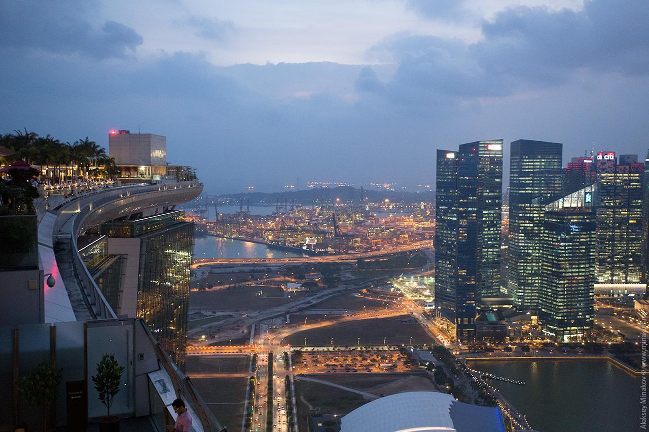 Singapore port from Marina Bay Sky Park